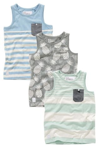 Buy Three Pack Vests (3-16yrs) online today at Next: United States of America