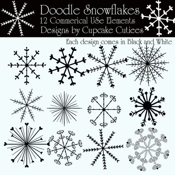 Vector of Snowflake doodle csp11515182 - Search Clip Art ...