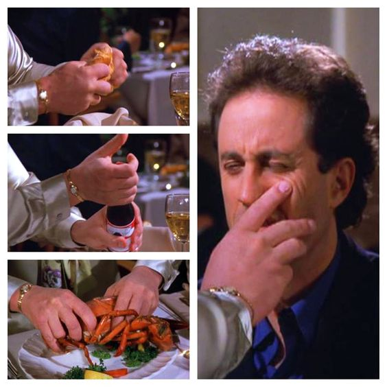 Seinfeld Kramer Old Movie Thatre Hot Dog
