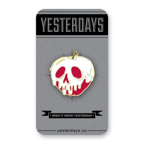 Poison Apple Enamel Pin by YesterdaysCo on Etsy