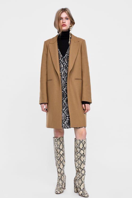 cappotto linea maschile zara donna