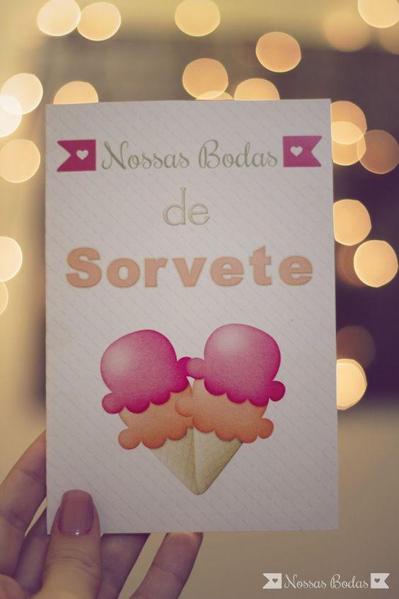 Material gratuito para comemorar 2 meses de casamento {Bodas de Sorvete}