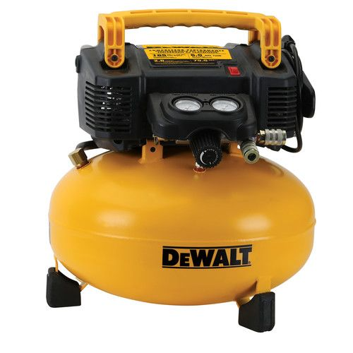 Factory Reconditioned Dewalt Dwfp55126r 0 9 Hp 6 Gallon Oil Free Pancake Air Compre Best Portable Air Compressor Pancake Air Compressor Portable Air Compressor