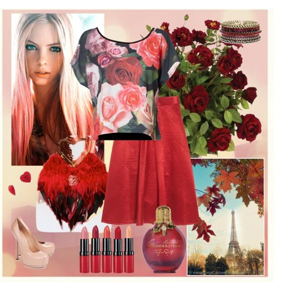 """""""Roses grow on you"""" by icjuk ❤ liked on Polyvore"""