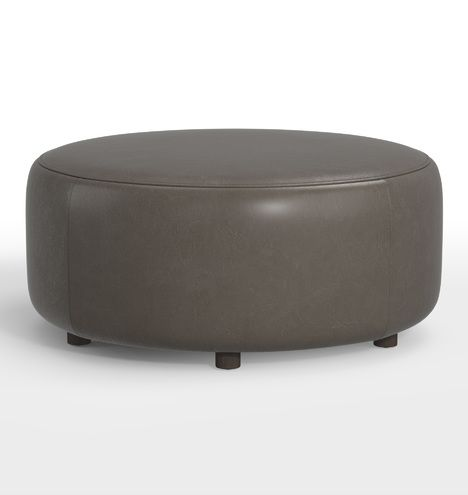 36 Worley Round Leather Ottoman Furniture Living Room Rejuvenation In 2020 Round Leather Ottoman Leather Ottoman Ottoman