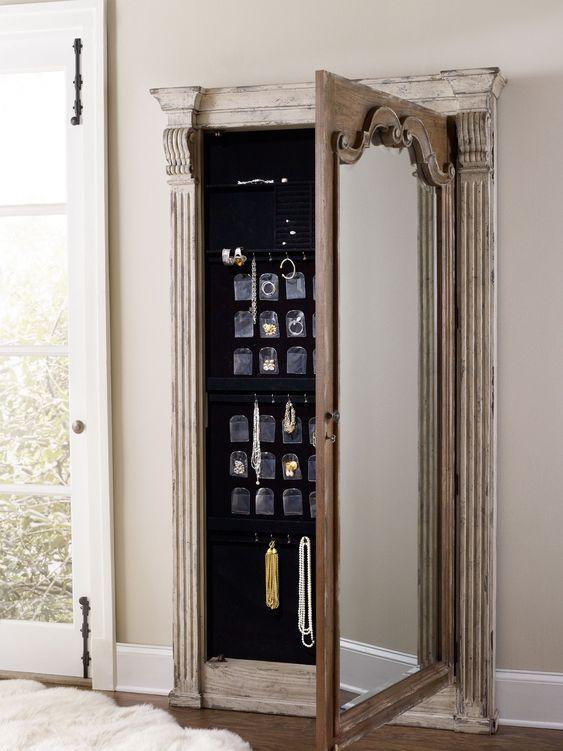 Hooker Furniture Chatelet Floor Mirror w/Jewelry Armoire Storage 5351-50003