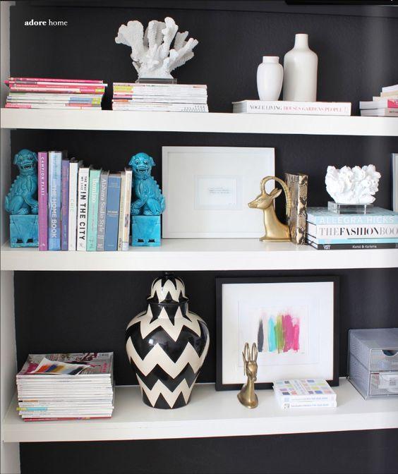 black behind shelves in dining room?