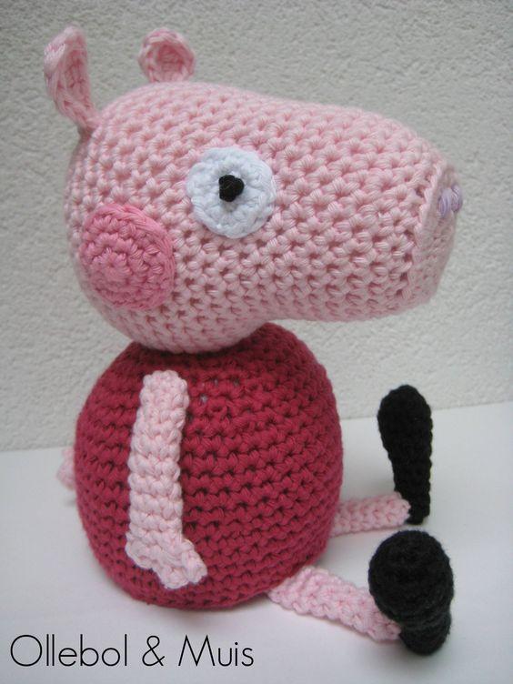 Peppa Pig Amigurumi Taller De Mao : Peppa Pig, crochet item by Ollebol & Muis SOLD Handmade ...