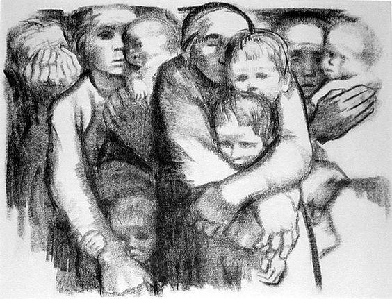 Kathe Kollwitz, Mothers, 1919: