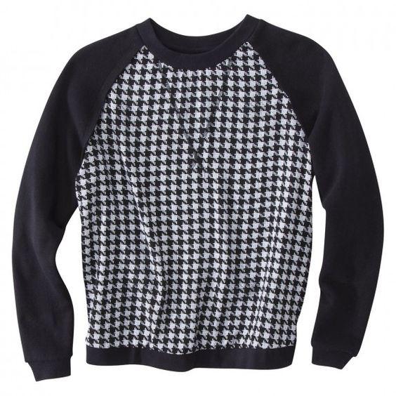 Mossimo Printed Long Sleeve Sweatshirt ($24.99, target.com)