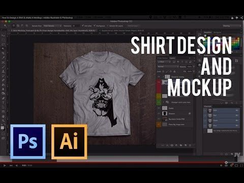 Download How To Design A Shirt Make A Mockup Adobe Illustrator Photoshop Youtube Learning Graphic Design Graphic Design Tips Photoshop Design