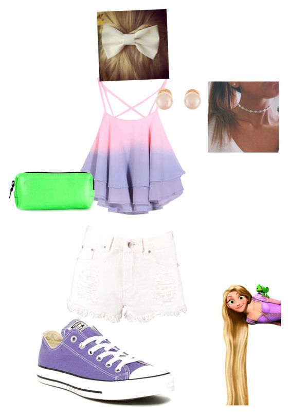 """""""Untitled #86"""" by jamiecollins127 on Polyvore featuring Boohoo, Converse, Fleet Ilya and Kenneth Jay Lane"""