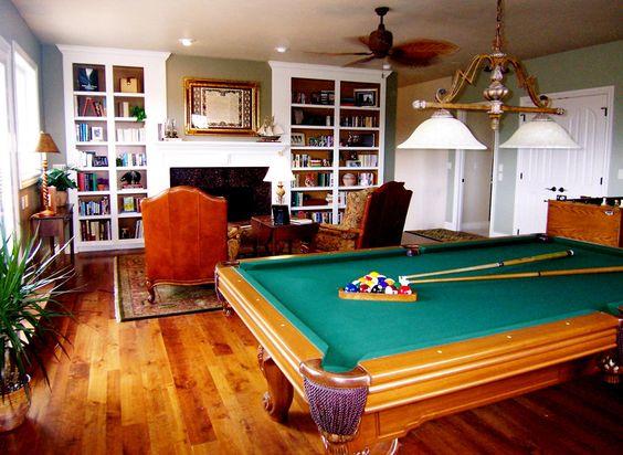 Beautiful billiard room by Room Resolutions