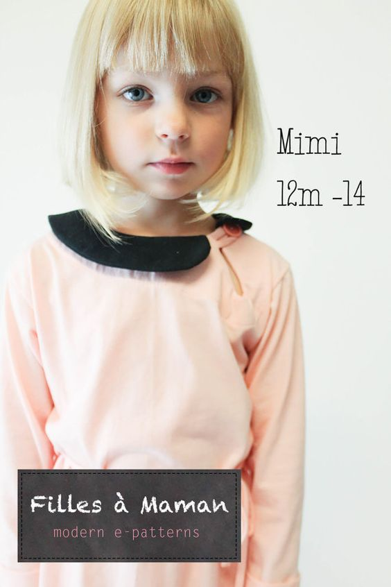 Mimi dress and shirt pattern by FillesaMaman on Etsy, $9.00