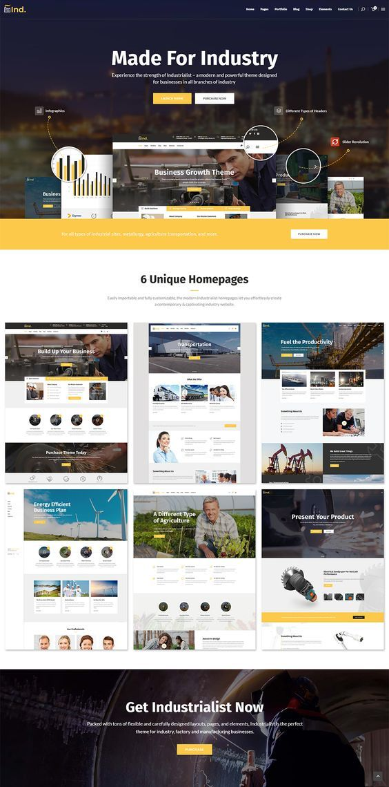 Industrialist Industry Manufacturing Theme In 2020 Web Layout Design Wordpress Theme Theme