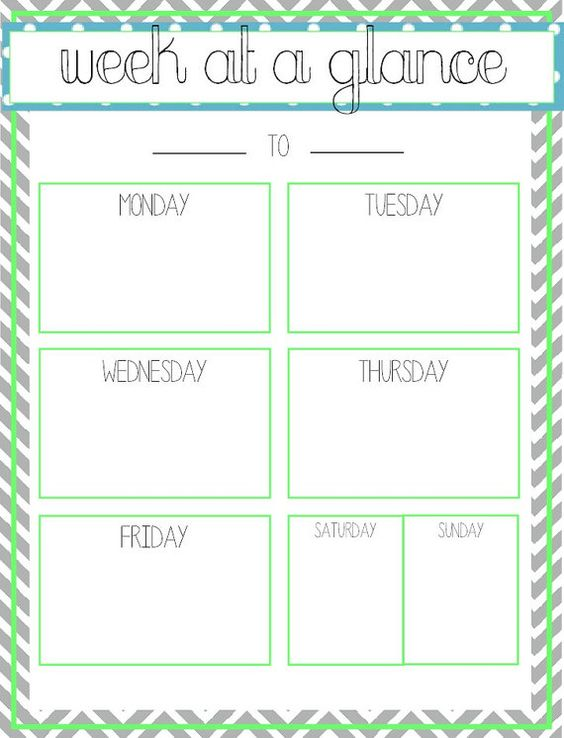 Lucrative image in week at a glance template