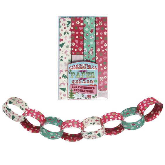 Christmas Paper Chains Kit | DotComGiftShop