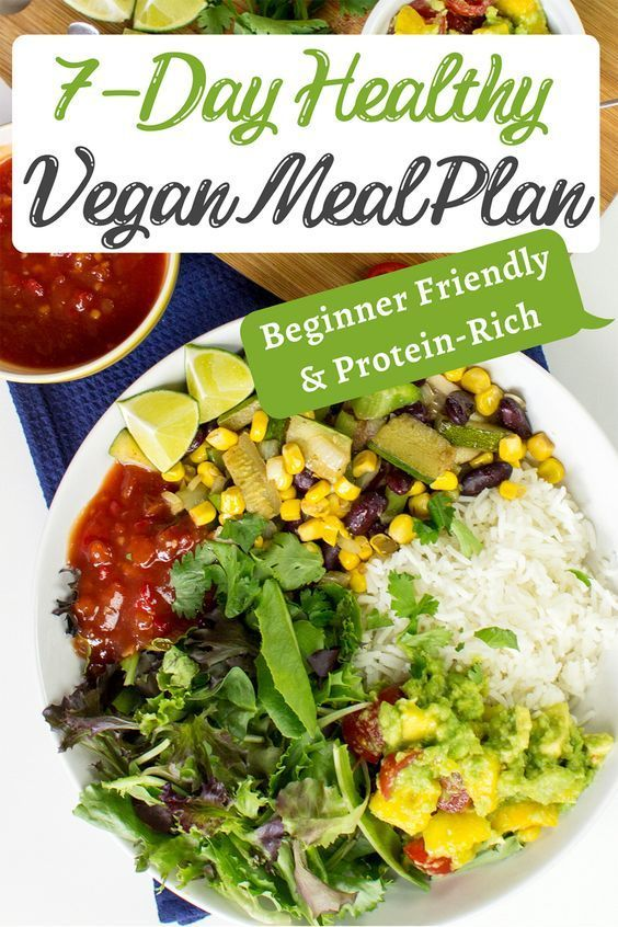 Get Our 7 Day Healthy Vegan Meal Plan Beginner Friendly Protein Rich Recipe In 2020 Vegan Meal Plans Vegan Recipes Healthy Healthy Vegan