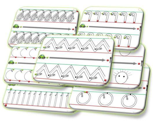 les pistes d 39 criture 27 fiches de graphisme avec les lignes dyspraxie et la petite voiture. Black Bedroom Furniture Sets. Home Design Ideas