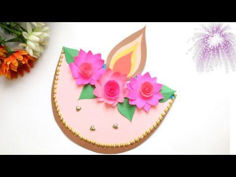 Handmade Diwali Card How To Make Diwali Card Diwali Greeting Card Making Diwali Festiv In 2020 Diwali Card Making Diwali Greeting Card Making Diwali Greeting Cards