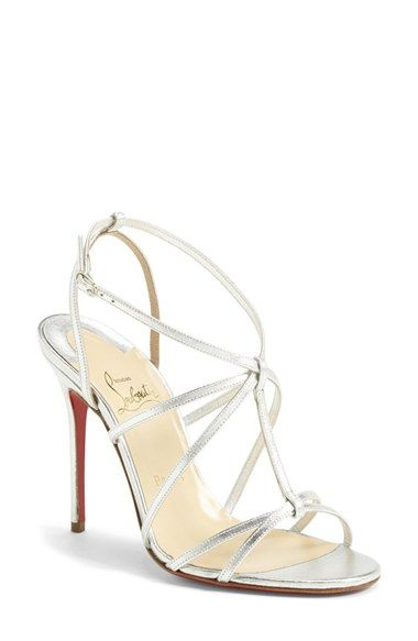fake red bottom shoes - Women's Christian Louboutin 'Youpiyou' Metallic Leather Sandal, 4 ...