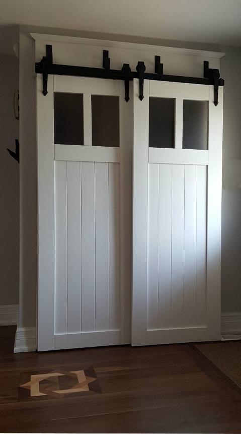 Self Closing Acrylic Craftsman Barn Door Bypass Barn Door Interior Sliding Barn Doors Barn Door Pantry