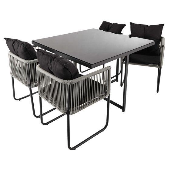 Tavolo da giardino + 4 sedie da ... - Swann