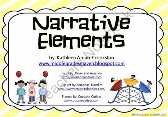 Narrative Elements/ Literary Elements Resources product from Middle-Grades-Maven on TeachersNotebook.com