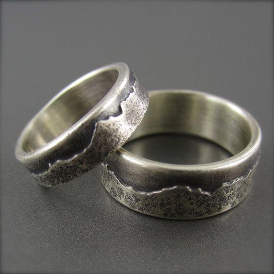 custom mountain range wedding ring made with your