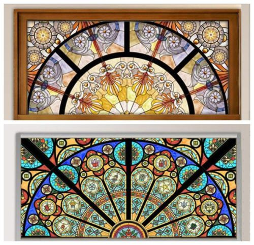 Static Cling Window Film Stained Glass Effect Door Glass