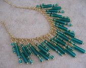 Bib Necklace - Emerald Green