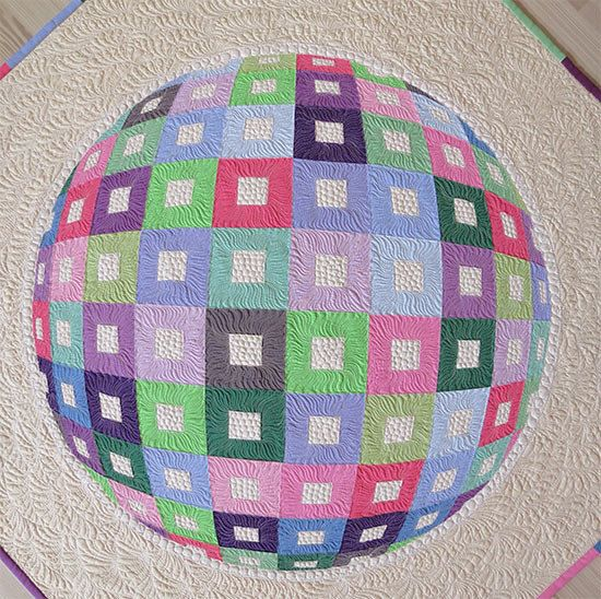 Optical Illusion Modern Wall Hanging Quilt por GetaGrama en Etsy