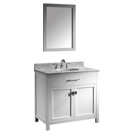 """Found it at Wayfair - Caroline 36"""" Single Bathroom Vanity Set with Mirror I http://www.wayfair.com/daily-sales/p/Single-Bathroom-Vanities-Caroline-36%22-Single-Bathroom-Vanity-Set-with-Mirror-I~VTU1178~E20523.html?refid=SBP.rBAZEVUDEcWYChWD9681Ap_bbAJY0kimisyUeS9Z-0E"""