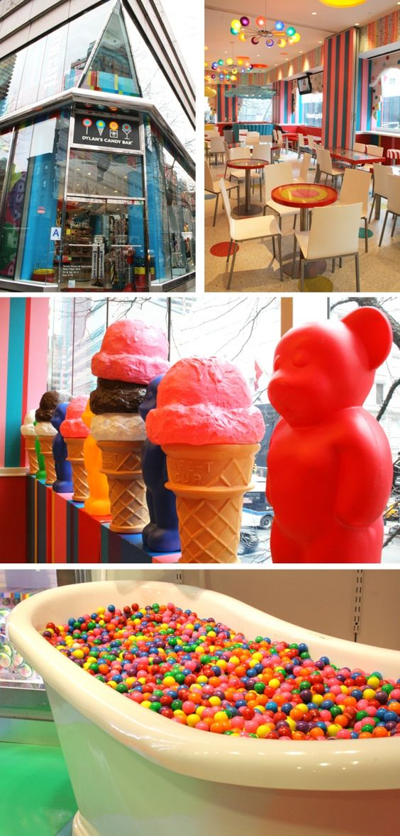 Dylan's Candy Bar- NYC: I have been to the one in Orlando, but I would like to see the one in New York, also.