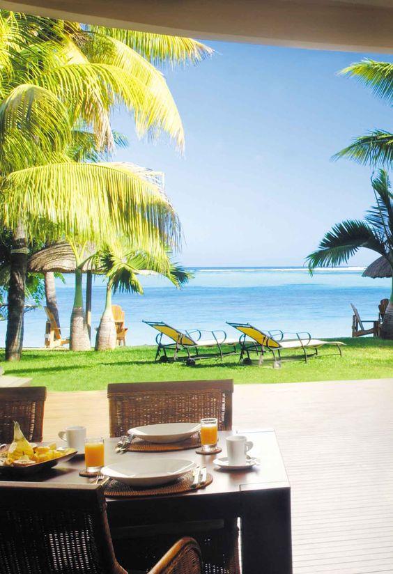 Breakfast at Paradis Hotel. Mauritius