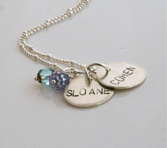 Handstamped mommy necklace personalized with by HammeringRedhead, $45.00