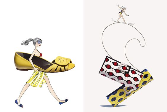 Roger-Vivier-Catalogue-Spring-Summer-2012-02- Direction Artistique Mixt - illustration Margaux Motin- photographer Philippe Lacombe
