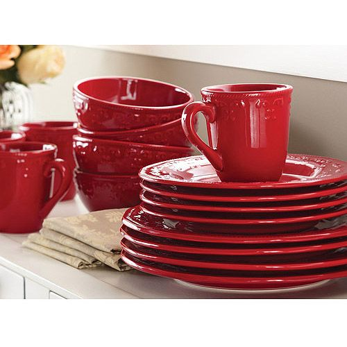 Better homes and gardens embossed christmas mistletoe 12 - Better homes and gardens dish sets ...