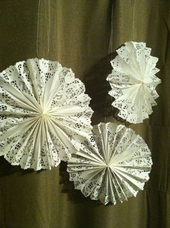 Doily Fans by popcornandpeonies on Etsy