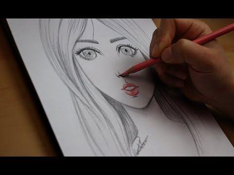تعليم الرسم تعلم رسم الوجه بالرصاص للمبتدئين مع خطوات بسيطة رسم ملامح الوجه Youtube Simple Face Drawing Face Drawing Easy Drawings