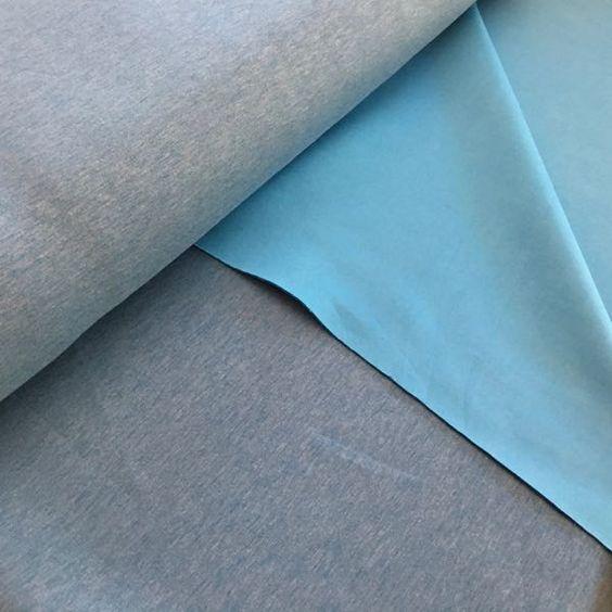 Scuba meliert – blau | Schnittverhext - Stoffe, Unikate