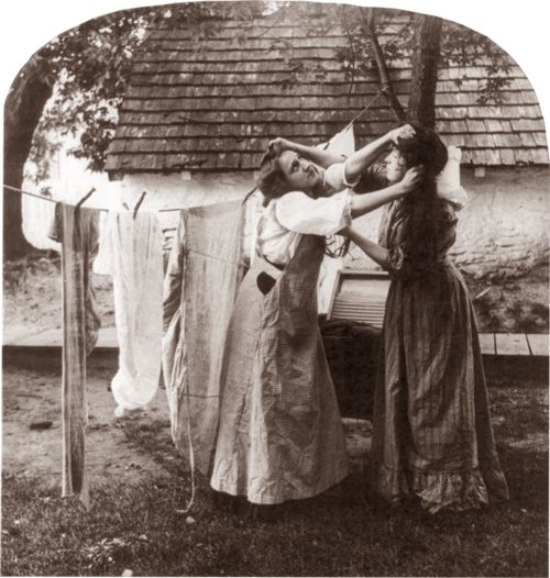 ladies fighting, 1908. I hope it's not about the laundry.