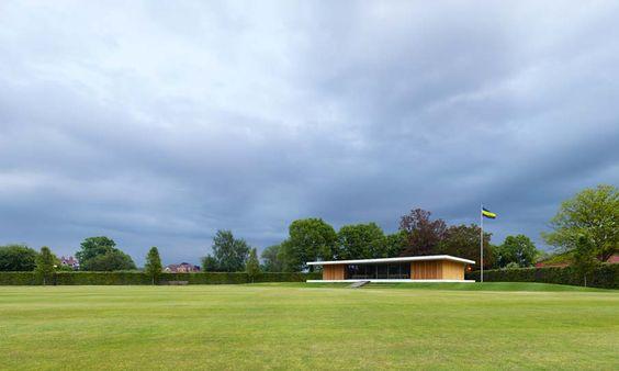 Architecture Photography - Cricket pavilion Oxford