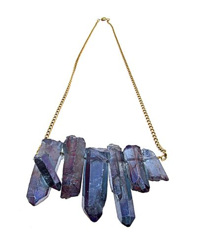 Jewelry Design | Starlight Necklace by Alisa Michelle // raw materials authenticity #designtrend #wearabledesign
