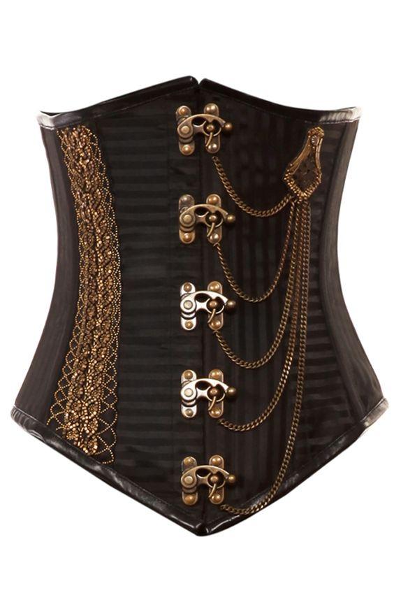 steampunk underbust corset.