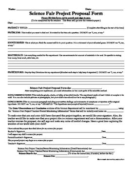 A contract and starter document for a science project and research paper.  This document helps students in upper elementary grades to stay organized through the scientific process as they work on a school science project.  This also helps them to remain accountable via student, parent, and teacher signatures being required on the documents.
