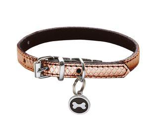 Collar Ibiza para perro fabricado en piel con medalla para que puedas grabar