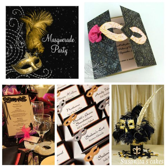 Ideas De Decoracion Para Fiestas ~ Ideas para una Fiesta de Mascaras!  #mascaras #fiesta #decoracion #