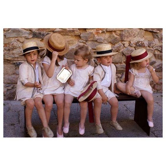 Niños de arras para comérselo  #canotier #niñosdearras #weddinginspiration