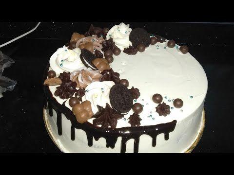 تزيين تورتة بشكل شيك جدا وبطعم مختلف خالص تحفة Youtube Cake Desserts Food